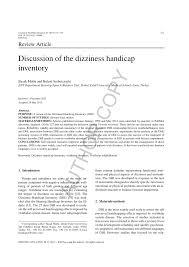 si e de handicap discussion of the dizziness handicap pdf available