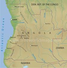 angola physical map angola physical map