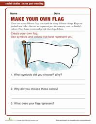 make your own flag geography worksheets and flags