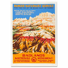 South Dakota Travel Posters images Badlands national park wpa travel poster eparks where your jpg