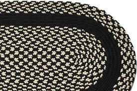 Black And Cream Rug Black U0026 Cream Black Band Braided Rug