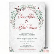 christmas wedding invitations shop christmas wedding invites on wanelo