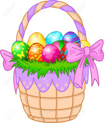 easter basket beautiful easter basket with colorful eggs royalty free cliparts