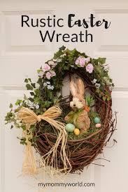 rustic easter wreath