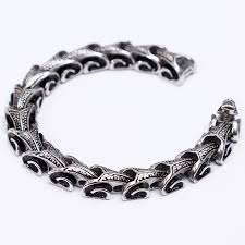 bracelet dragon images Stainless steel dragon grain bracelet at crimson savage jpg
