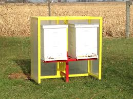 bee hive stand with wind break bees pinterest bees