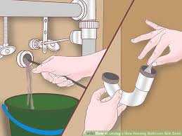 How To Unclog Bathroom Drain 4 Ways To Unclog A Slow Running Bathroom Sink Drain Wikihow