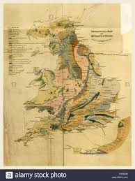 Map Of England And Wales Outlines Of The Geology Of England And Wales Map 19th Century