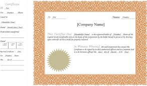 download stock certificate template 1 for free tidyform
