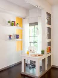 furniture small office design with small desk and shelves
