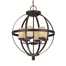 Seagull Chandelier Shop Sea Gull Lighting Sfera 24 5 In Autumn Bronze Wrought Iron