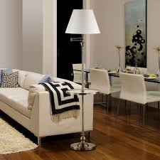 modern floor lamp with attached table