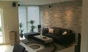 Gestaltung Von Esszimmer Wohnzimmer Design Wand Stein Haus Renovierung Mit Modernem