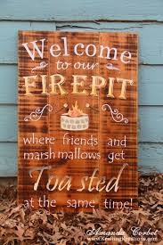 Firepit Signs Friday Favorites Diy Home Decor Projects Clean And Scentsible