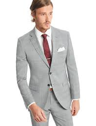 classic clothing men s grey light blue prince of wales check classic fit suit