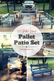 Pallets Patio Furniture by Pallet Patio Set Inspired Your Outdoor