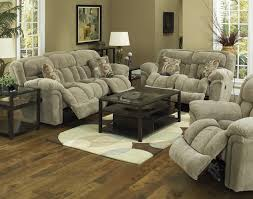 Fabric Reclining Sofa Living Room Sets With Recliners Decoration 3 Reclining
