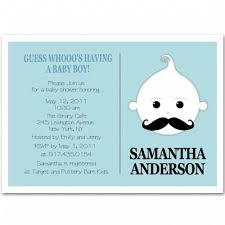 mustache baby shower invitations kid with moustache baby boy shower invitation bs218