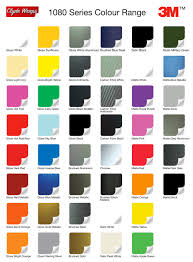 3m color chart real fitness