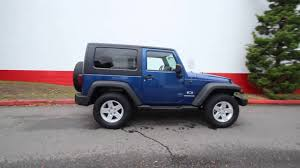 Wrangler 2009 2009 Jeep Wrangler X Hard Top 4x4 Deep Water Blue 9l737474
