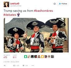Bbc Memes - presidential debate trump s bad hombres quip inspires mucho