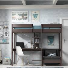 High Sleeper With Futon Vipack Pino High Sleeper With Futon Taupe Grey Jellybean Ireland