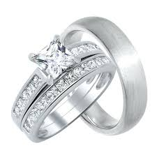wedding ring sets his and hers cheap his hers wedding rings blushingblonde