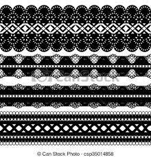 black lace ribbon four black ribbons set of four seamless black lace ribbon