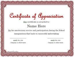Certificate Appreciation Template 30 free certificate of appreciation templates and letters