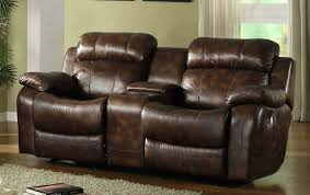 Leather Loveseats Rocker Recliner Loveseat With Console Cozy Leather Loveseats