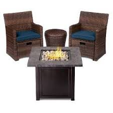 Small Space Patio Furniture Sets Halsted 5 Wicker Small Space Patio Furniture Set Threshold