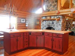 Pictures Of Red Kitchen Cabinets Image Of Kitchen With Red Painted Cabinets Painted Cabinets New