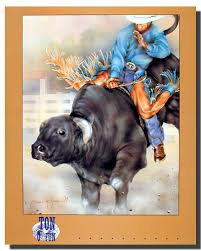 amazon com western cowboy rodeo bull riding picture wall decor