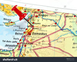 Map Of Syria by Map Syria Pin Set On Homs Stock Photo 404530765 Shutterstock