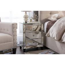 Online Wholesale Home Decor by Hollywood Regency Mirrored Nightstand Wholesale Interiors Baxton