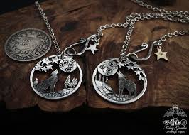 silver wolf necklace images The silver shilling collection silver howling wolf necklace jpg