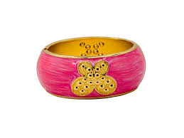 bangle style bracelet images Bangles pink and golden bracelet clasp style inspiredreams jpg