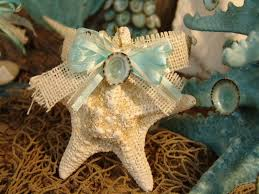 coastal ornaments white common starfish ornament with limpet