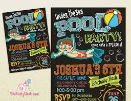 18 best pool invitations images on pool