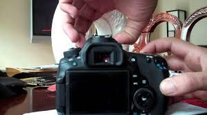 canon eos 60d flash error err 05 youtube