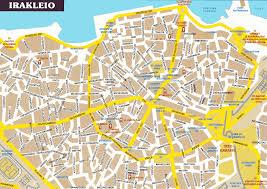 city map irakleio city map irakleio greece mappery