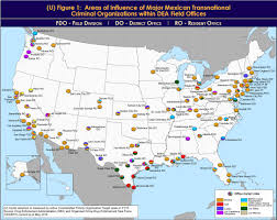 Mexican State Map by Dea Maps Show Where Mexican Drug Cartels Hold Sway In Texas