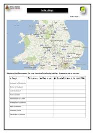ks3 maps u0026 scale activity uk by danielabbott89 teaching