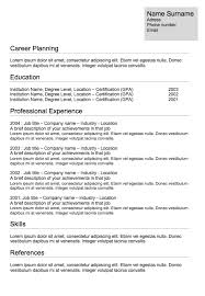 Free Resume Samples Online by Cv Classic Free Resume Templates And Best Free Online Resume Maker