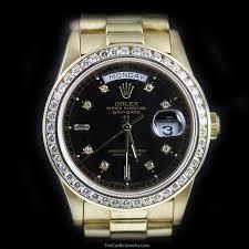 rolex black friday rolex mens 18k day date president baguette diamond bezel black