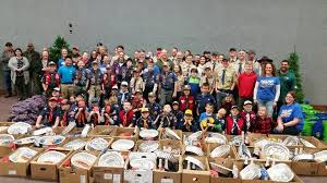 ferndale cub scouts work to help others enjoy thanksgiving