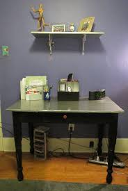 a silver desk before u0026 after