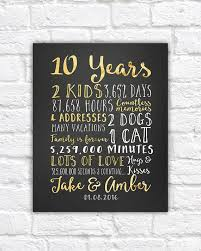 tenth anniversary gifts wedding anniversary gifts for him paper canvas 10 year