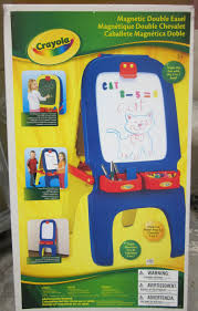 magnetic easel for toddlers mrsmommyholic the kids new toy crayola s magnetic double easel