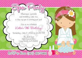 spa birthday party invitation template stephenanuno com